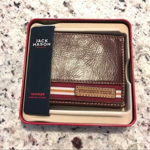🆕 Jack Mason Brand Leather Virginia Tech Wallet